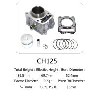 CH 125 Honda 125cc Water Cooled Cylinder Kit For Motorcycle Engine Parts Manufactures