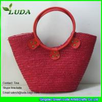 red color wheat straw totes handbags for women Manufactures