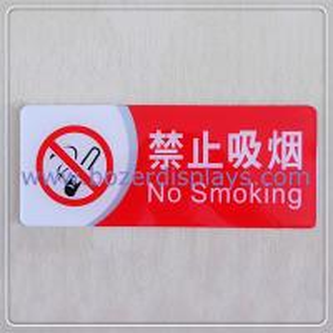 China Custom-design No Smoking Acrylic Warning Board/No Smoke Warming Sign on sale