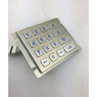 4X4 vandal resistance stainless steel back lighted numeriic keypad Manufactures