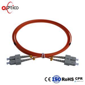 China Multimode Fiber Optic Patch Cables  SC UPC to SC UPC Duplex Fiber Patch Cord on sale