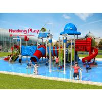 Fashionable Water Park Playground Equipment Stainless Screws Anti - Static For Kids