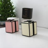 CMYK Cardboard Gift Boxes Black Ribbon White Paper Gold Hot Stamping Candle Manufactures