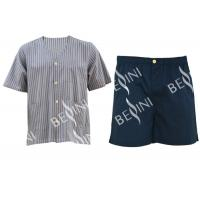 Customized Size Mens Silk Pajama Set , Environmental Mens Pajama Shorts Set Manufactures