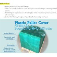 China customized PE pallet cover bag, Waterproof pallet covers/ Poly Bags, Plastic Pallet Covers Gusseted Pallet Covers Pallet on sale