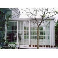 White Color Aluminium Glass Greenhouse Luxury Imperial Design System Manufactures