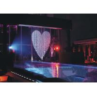 Musical Artificial Waterfall Water Fountain , Indoor Water Curtain Fountain Manufactures