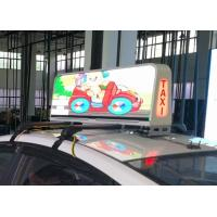 IP66 Protection Taxi Top Led Sign Media Advertising , Led Taxi Display Long Life Manufactures