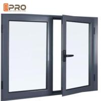 Black Aluminium Double Glazed Window , Vertical Bridge Casement Windows Manufactures