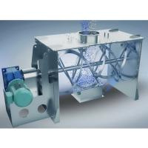 Single Shaft Ribbon Mixer Machine , Double Ribbon Blender With Sprayer