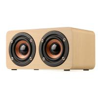 Dual-horn Wooden Bluetooth Wireless Portable Speaker With Bass Music Sound, Intelligent Hands-free Calls Manufactures