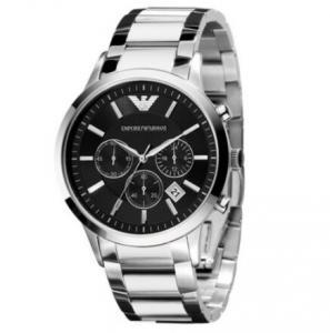 China Wholesale Emporio Armani  AR2434  AR2453 AR2448 Chronograph Black Dial Steel 42mm Mens Watch on sale