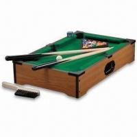 MDF Mini Pool Table with Wood Grain Finish and Felted Top Manufactures