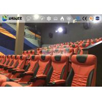 2 Years Warranty 4D Motion Theatre 3 Seat Red Color Motion Rides Electric System Manufactures