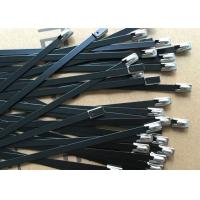 Lightweight Insulation Coated Stainless Steel Cable Ties For Power Industry Manufactures