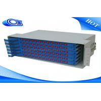 China Light Gray 48 Port Fiber Optic Patch Panel , Fiber Optic Splice Tray For FTTX Systems on sale