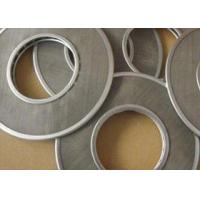 China 2 Layers Stainless Steel Filter Screen Disc 25-60 Mesh Durable With Aluminum Edge on sale