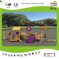 Outdoor Wooden Playground (KQ10153A) Manufactures