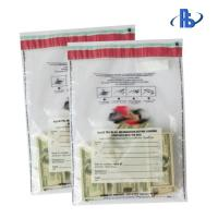Tear Proof Tamper Evident Security Bags With Crafted Writing Area Manufactures