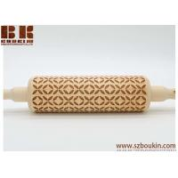 China Eco-friendly handcrafted pattern customized child's wooden rolling pin on sale