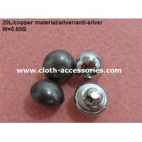 Round Pearl Shank Custom Clothing Buttons Copper Color With Polished