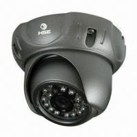 China Hottest Sell CCTV Color CCD Night Vision Dome Camera with 24 Pieces of 5mm IR LEDs, 3.6mm Lens on sale