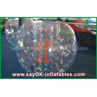 Adult 1.5m DIA Inflatable Zorb Ball , Transparent Human Bubble Soccer TPU / PVC Manufactures