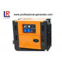China Square Type Silent Diesel Generator Electric Start Low Oil Alarm 4.5 kW - 5kW on sale