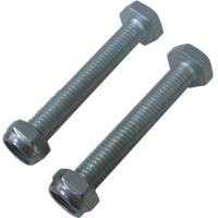 M8 X 60 Pallet Rack Hardware Set For Connect Steel Wire Mesh Panels Zinc Plated Manufactures