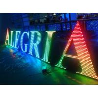Metal LED lighted sign letters for outdoor advertising decoration Manufactures