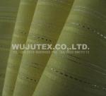 90g/sm Yellow Cotton Nylon Fabric Spandex Lurex , Plain Weave, Dobby Stripe Manufactures
