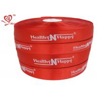China Personalized Words red stain Custom Printed Ribbon Silk Printing wholesale