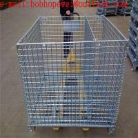 storage folding galvanized mesh storage cage/1.20m*1.0m*0.89m storage fold cage from 100% really factory for sale