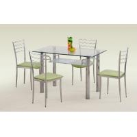 clear recatangle glass dining table xydt-032