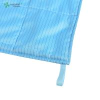 Anti Static ESD Wipe blue color with Microfiber for class 1000 or higher cleanroom Manufactures