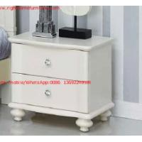 Quality Ivory Classic Bed side table with wooden drawers for Nightstand design used by for sale