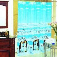 Waterproof and Mildew Resistant Shower Curtain, Printed PVC Shower Curtain