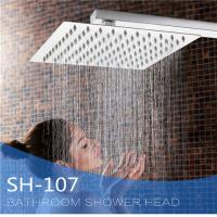 China Ultra Thin Stainless Steel Shower Head , Square Rainfall Shower Head Angle Adjustable on sale