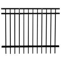 Metal galvanized steel guardrail fence for garden different colors for your choice Manufactures