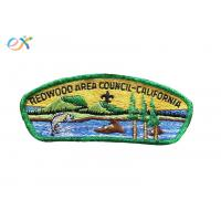 Embroidery Logo Boy Scout Patches Size Customized For Uniform Clothing Manufactures