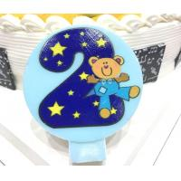 Cute Round Shape Number Printable Birthday Candles For Cake Decorating No Smoking Manufactures
