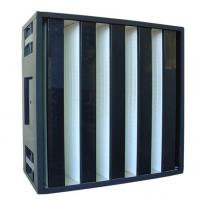 Clean Room SUS Frame Plastic V Cell Terminal HEPA Filter Easy To Handle HVAC system Manufactures