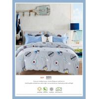 4 Piece Natural Cotton Bedding Sets , Double Size Cotton King Size Comforter Sets Manufactures