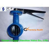 ANSI Grooved End Pneumatic Actuator Manual Butterfly Valve SS316 Stem For Water Manufactures