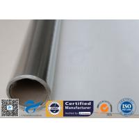 Quality Silver Coated Fabric 430G 0.43MM Twill Aluminium Foil Fiberglass Pipe Insulation for sale