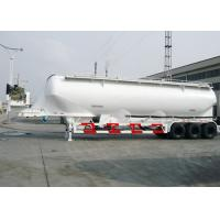 China Carbon Steel Dry Bulk Tank Trailers , 50000L Capcity Bulk Powder Tankers on sale