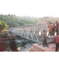 Timber Deck Bailey Steel Truss Bridge Compact With Single Lane Manufactures