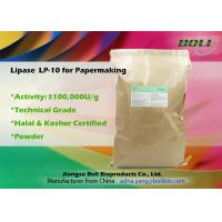 Industrial Lipase Enzyme In Paper Industry Technical Grade Light Brown Powder Manufactures