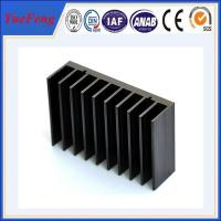 Black anodized aluminum extrusion profile supplier, supply aluminum radiator extrusion Manufactures