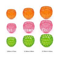 a series of different color glass candle holder for wedding cenperpiece Manufactures